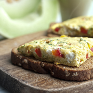 Open-Faced Garden Frittata Sandwiches