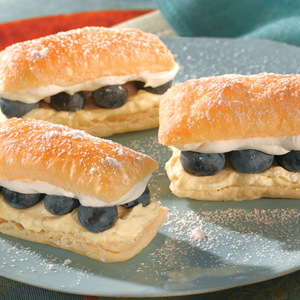Lemon Blueberry Petite Napoleons