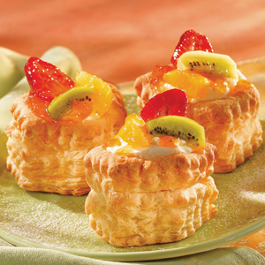 Pastry Shells with Fruit & Orange Cream