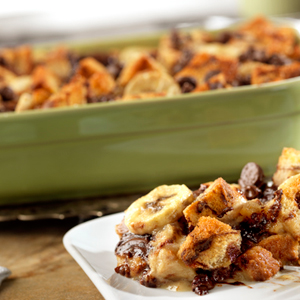 Holiday Banana Bread Pudding