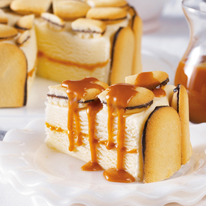 Cookie & Caramel Ice Cream Cake