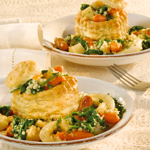 Roasted Winter Vegetable Ragoût in Pastry Shells
