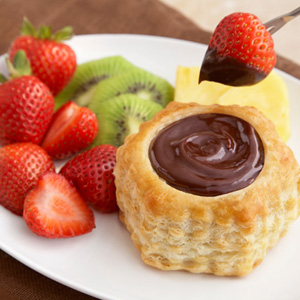 Chocolate Fondue Shells
