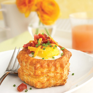 Bacon Egg And Cheese Pastry Shells Puff Pastry